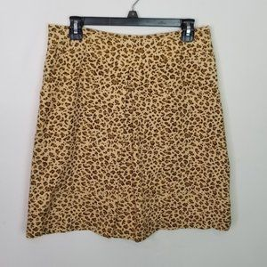 J. McLaughlin Cheetah Print Skirt